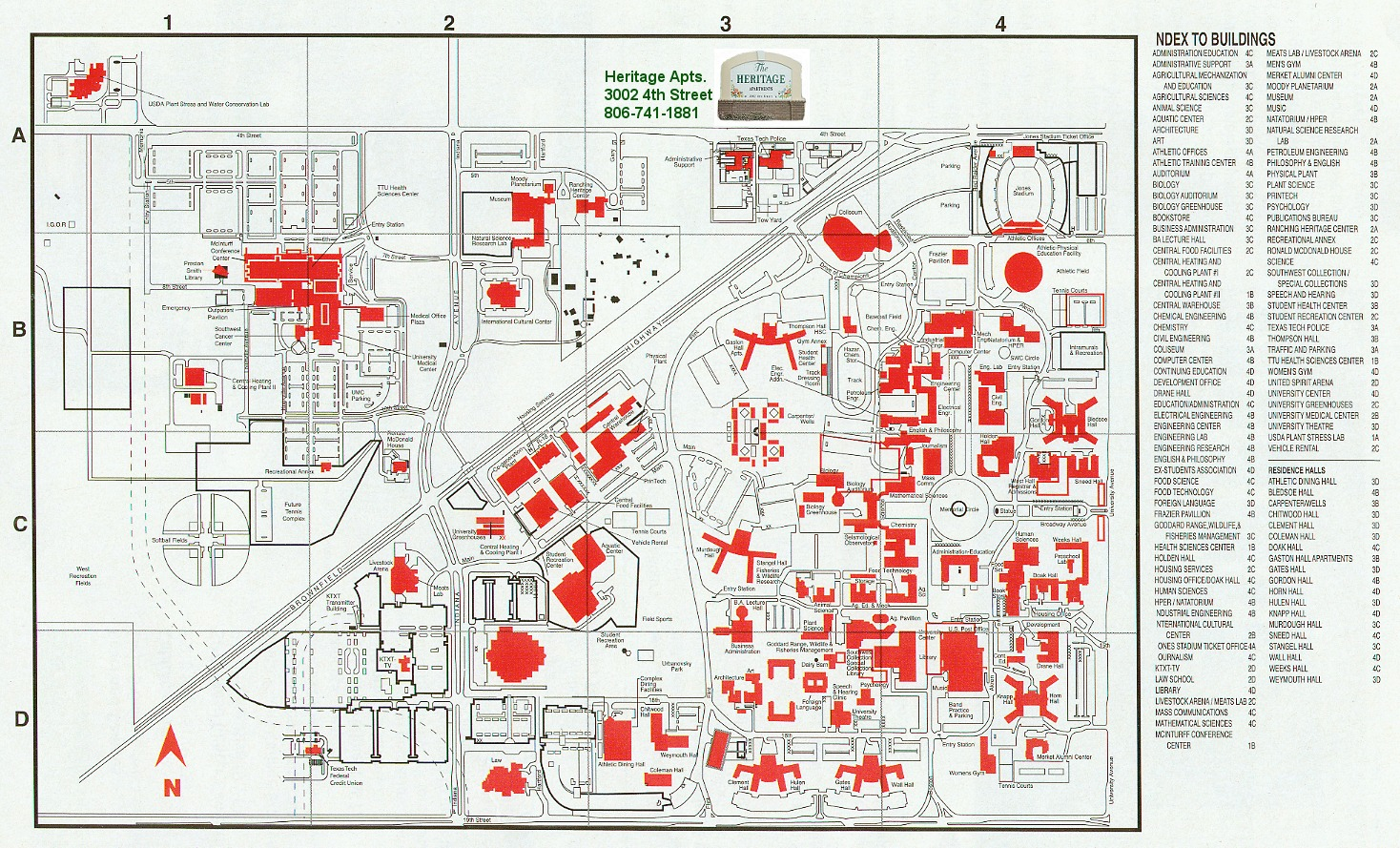 Ttu Campus Map   CYNDIIMENNA