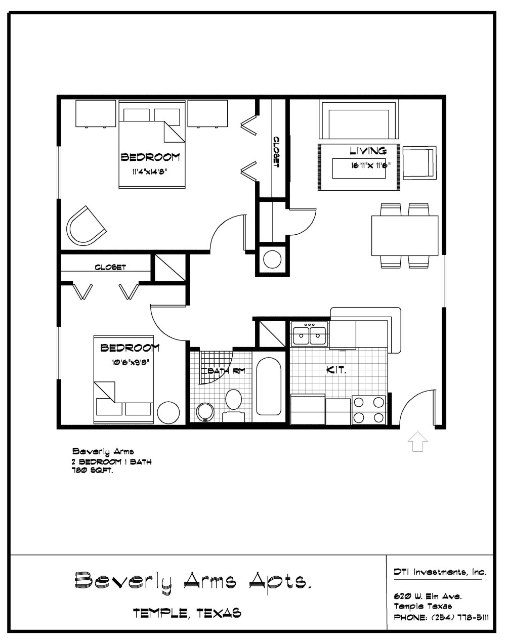 find a home temple 2 bedroom 1 bath 780 sf